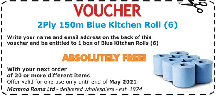 Blue Kitchen Roll Catering