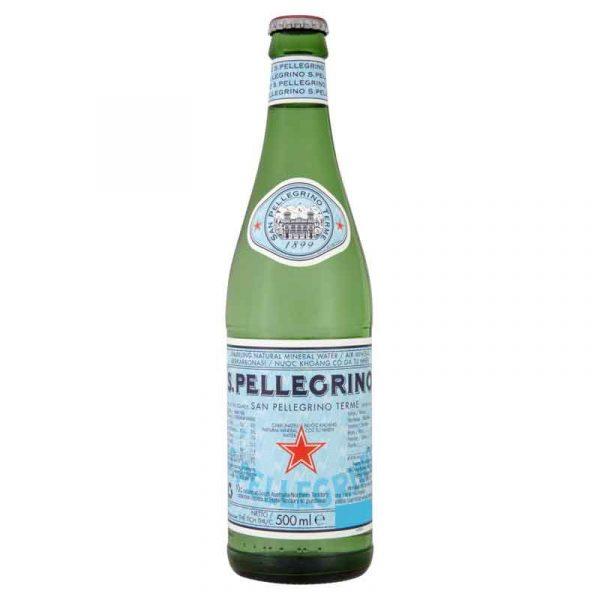 San Pellegrino Sparkling Mineral Water – glass bottle (24x505ml)