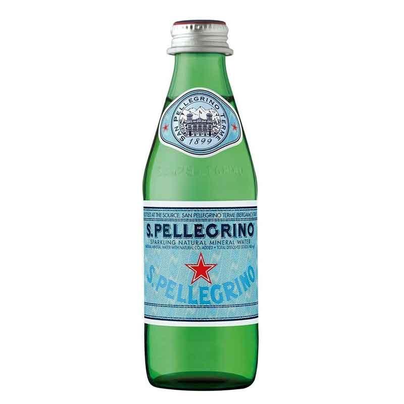 San Pellegrino Sparkling Mineral Water – glass bottle (24x25cl)