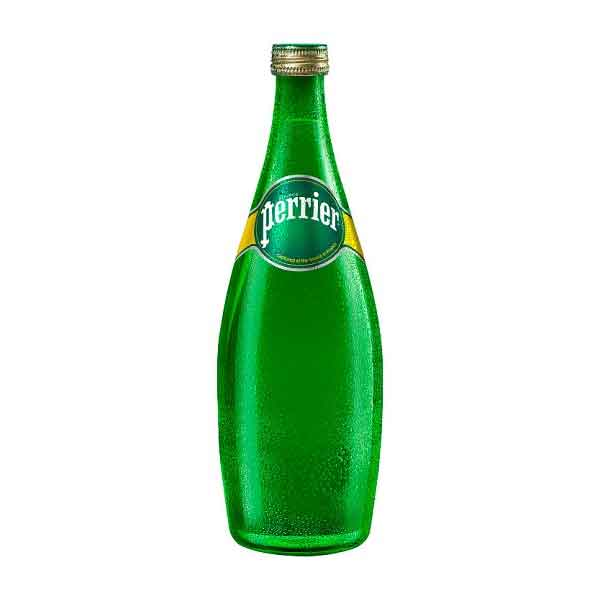 Perrier Sparkling Mineral Water – glass bottle (12x75cl)