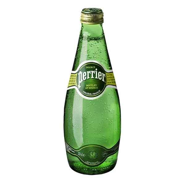Perrier Sparkling Mineral Water – glass bottle (24x33cl)