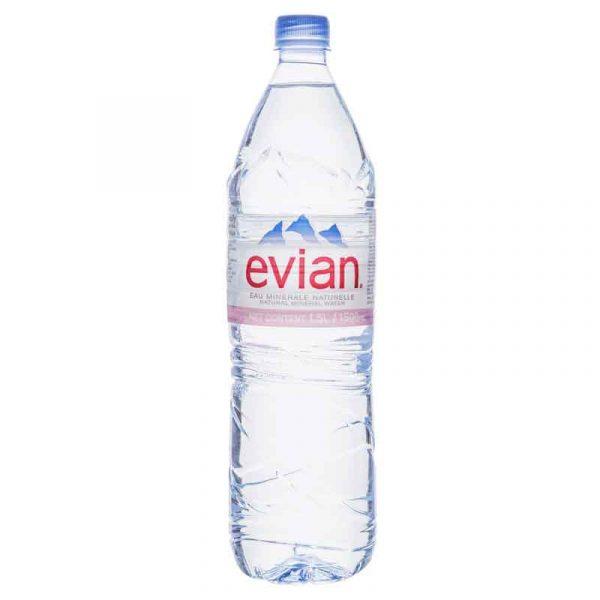 Evian Still Mineral Water – plastic bottle (6×1.5L)
