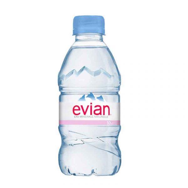 Evian Still Mineral Water – plastic bottle (24x33cl)
