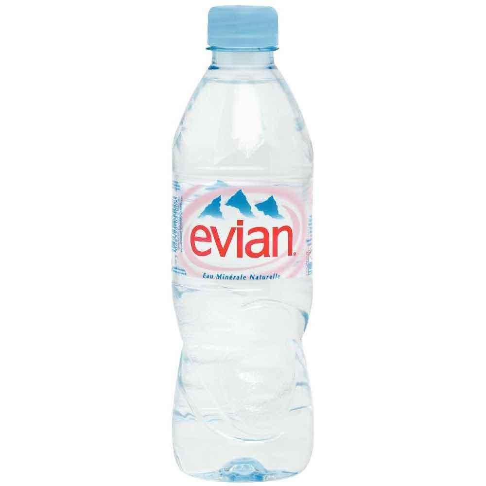 Evian Still Mineral Water – plastic bottle (24x50cl)