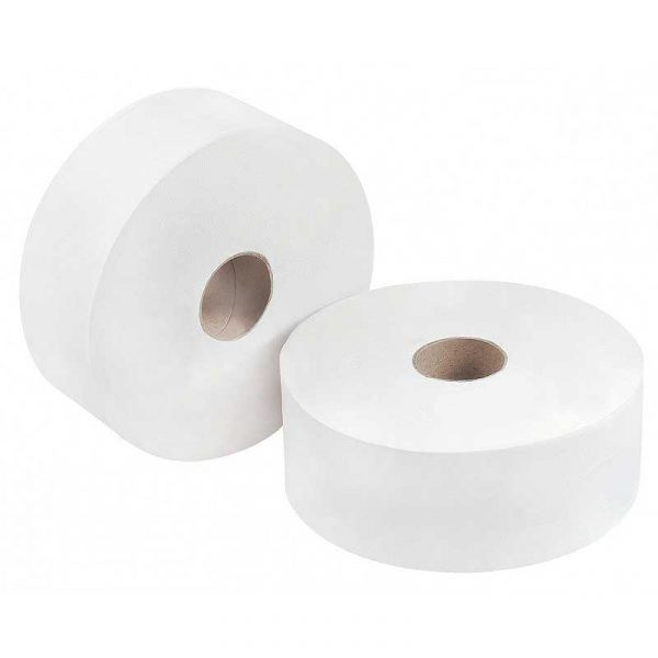 2Ply 150m White Mini Jumbo Toilet Roll (12)