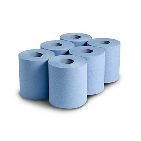 2Ply 150m Maxi Centre Feed Blue Kitchen Roll (6)