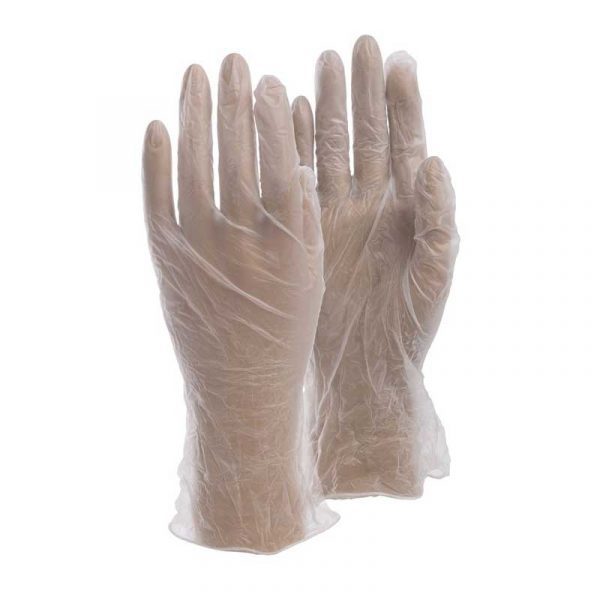 Large Vinyl Dr Gloves – lightly powdered (100)