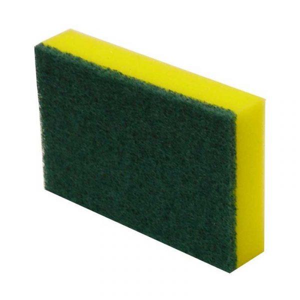 Yellow & Green Sponge Scourer Pads (10)