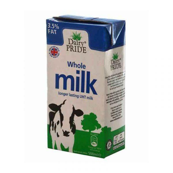 Long Life UHT Whole Liquid Milk (12X50cl)