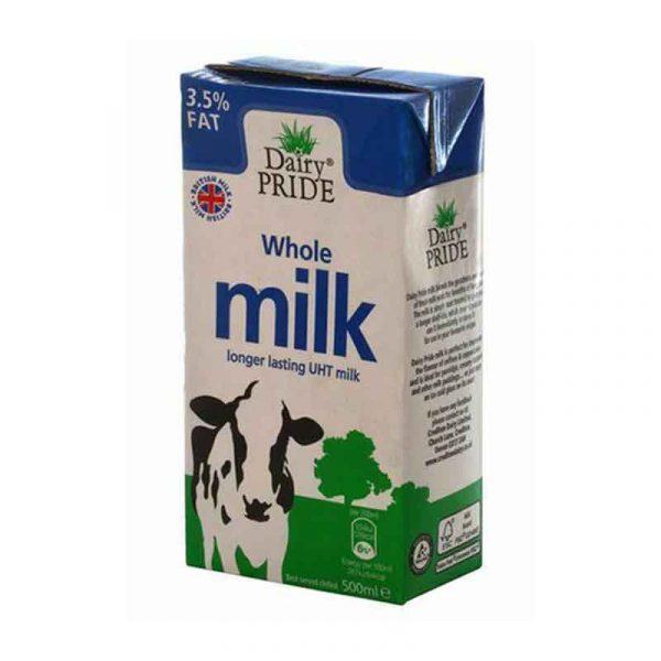 Long Life Whole UHT Liquid Milk (12x1L)