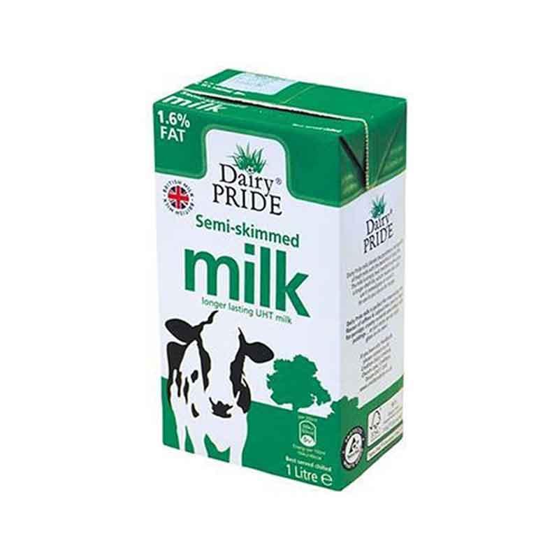 Semi Skimmed UHT Liquid Milk (12x1L)