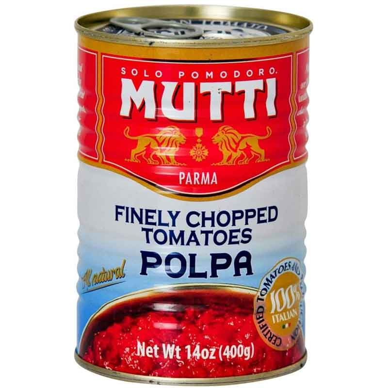 Mutti Chopped & Peeled Tomatoes – canned (12x400g)