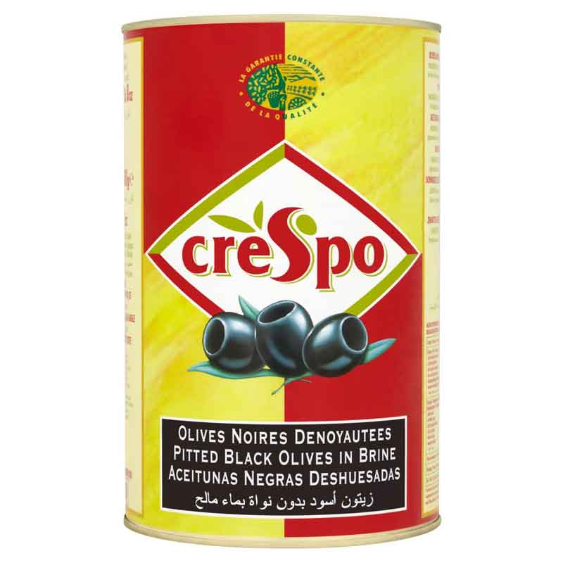 Crespo Black Pitted Olives – stone out (5Kg)