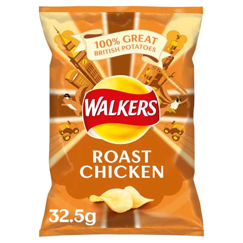 Walkers Roast Chicken Crisps (48×32.5g)