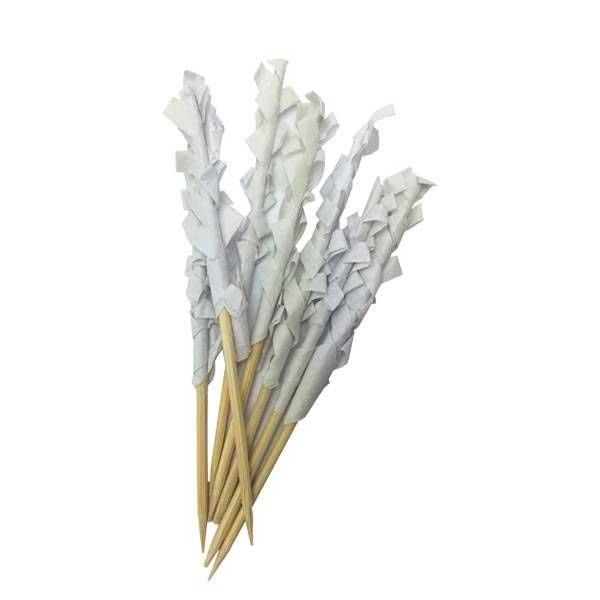 10cm Frilly Wooden Skewer Sticks (1000)