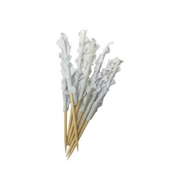 8cm Frilly Wooden Skewers Sticks (1000)