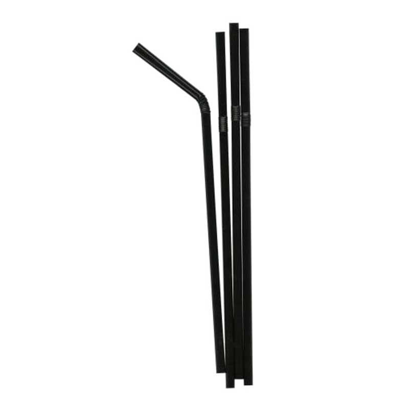 Black Flexi Straws (250)