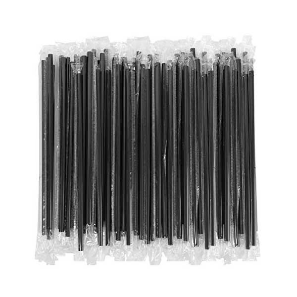 Individually Wrapped Black Straws (250)