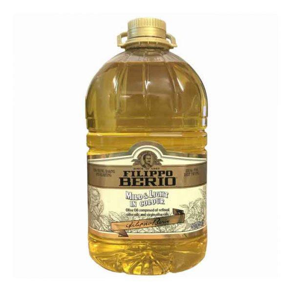 Filippo Berrio Mild Light Olive Oil – plastic bottle (5L)