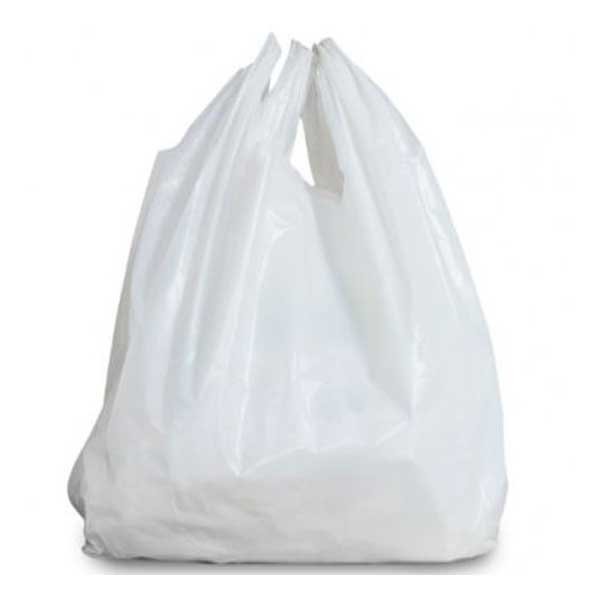 White Plastic Carrier Bags 12″x19″x23″ (100)