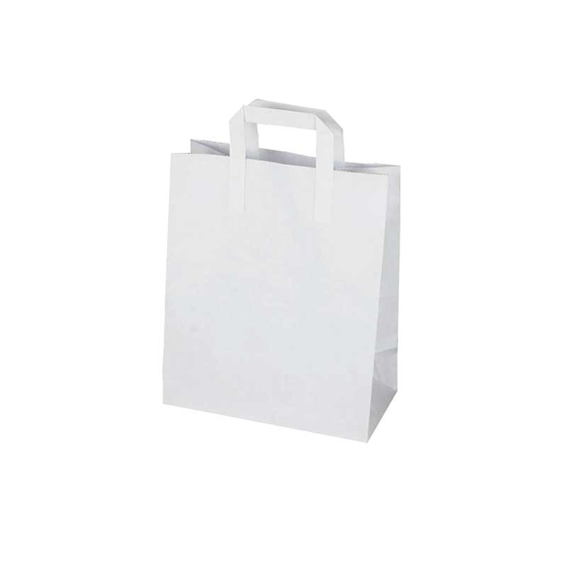 Small White Paper Carrier Bag 23x18cm (250)