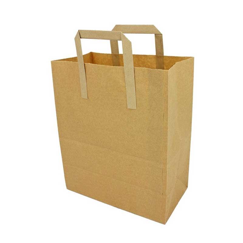 Large Brown Paper Carrier Bag 31x25cm (250)