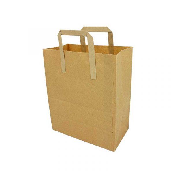Medium Brown Paper Carrier Bag 25x24cm (250)
