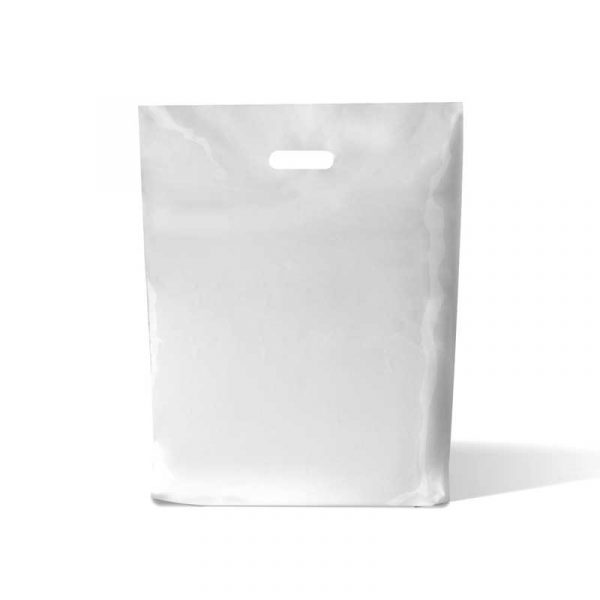 White Plastic Carrier Bags 15x18x3cm (50)