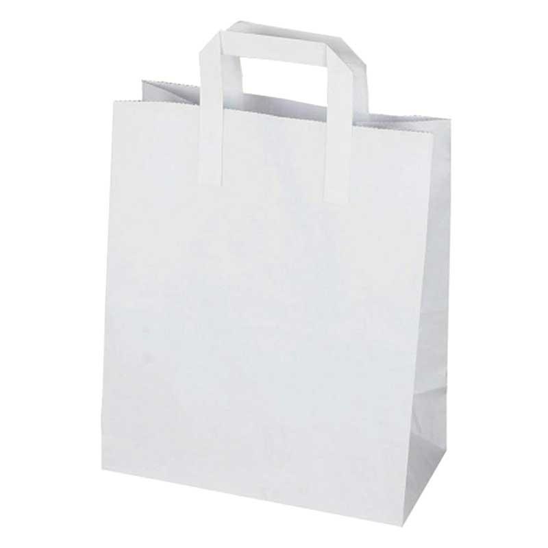 Large White Paper Carrier Bag 31x25cm (250)
