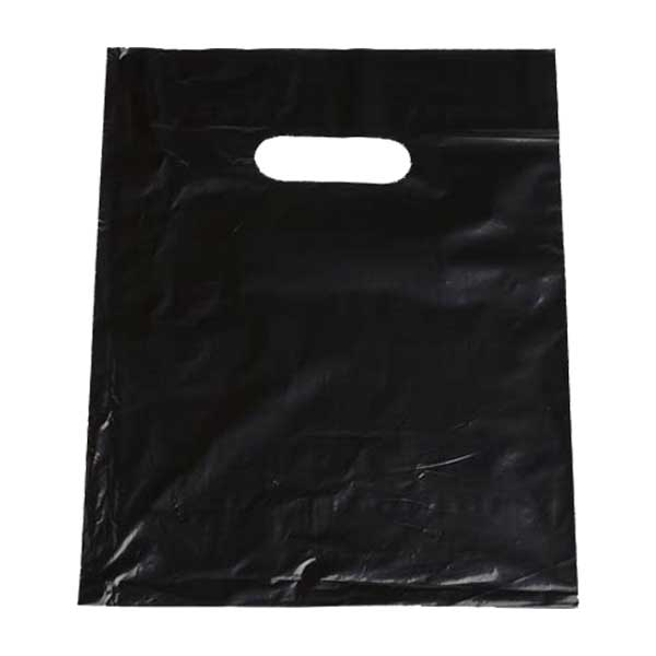 Black Plastic Carrier Bag 13″x17″ (1000)