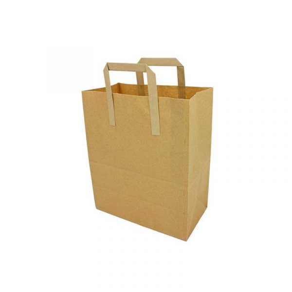 Small Brown Paper Carrier Bag 23x18cm (250)