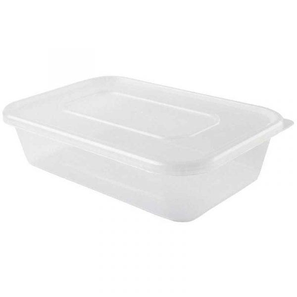 Large Microwave Box & Lid 1000ml (250)