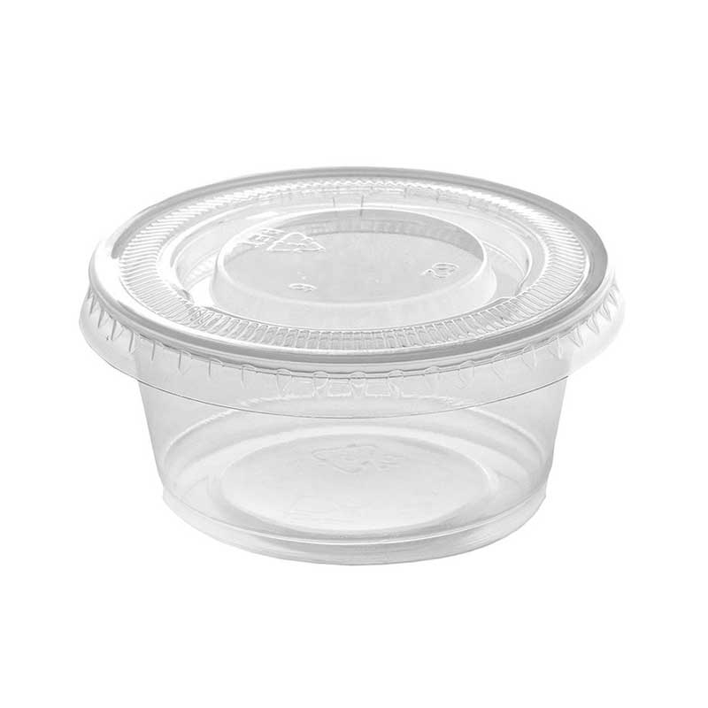 2oz Clear Plastic Cup & Lid for Dips (1000)