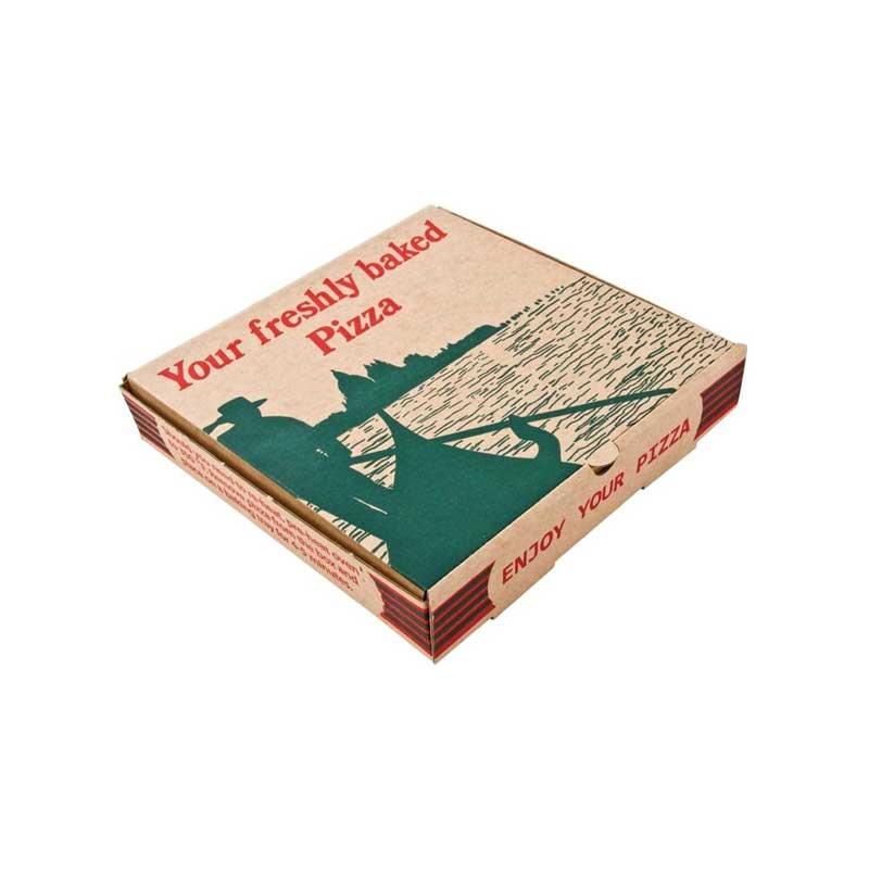 7″ Brown Gondola Pizza Box (100)