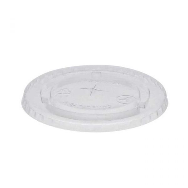 White Straw Hole Lid for Polystyrene 7oz Cup (1000)