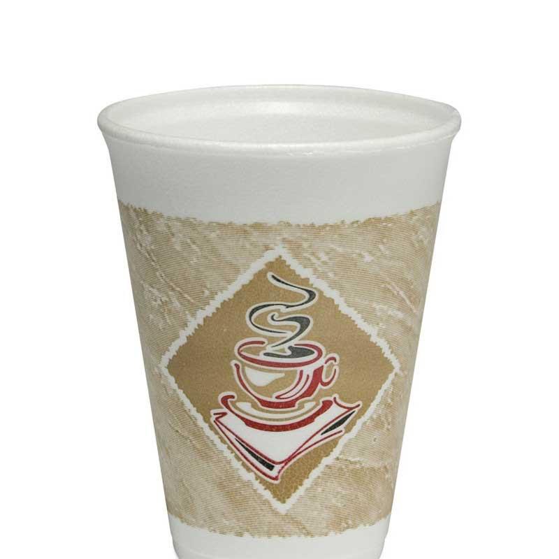 12oz Printed White Polystyrene Cup (1000)