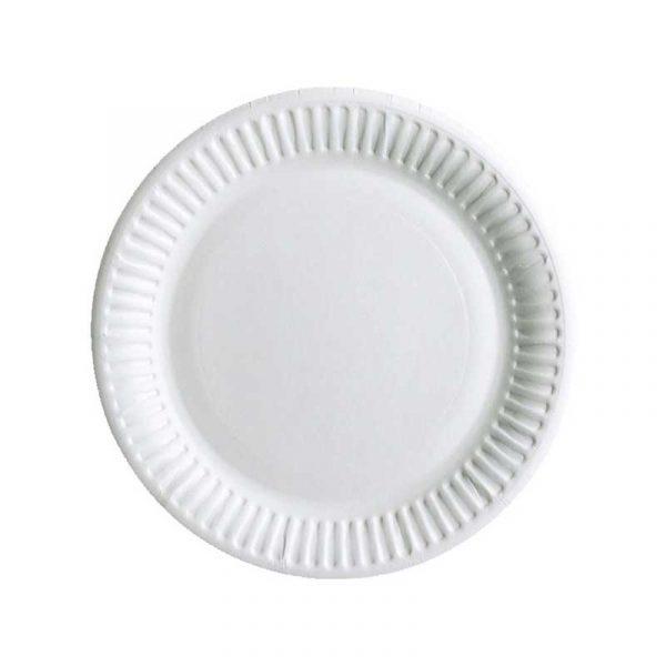 6″ White Paper Plate (100)