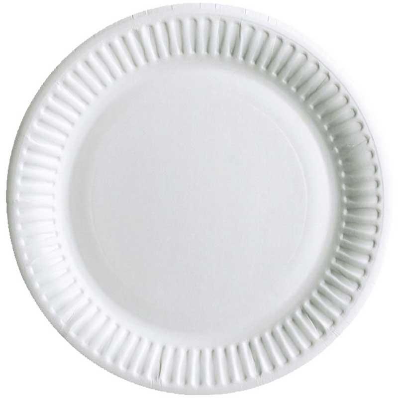 9″-23cm White Paper Plate (100)