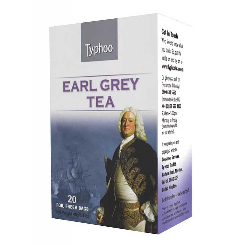 Typhoo Earl Grey Envelope Tea (6×20)