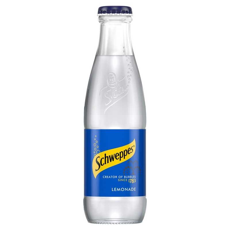 Schweppes Lemonade – baby glass bottle (24x125ml)
