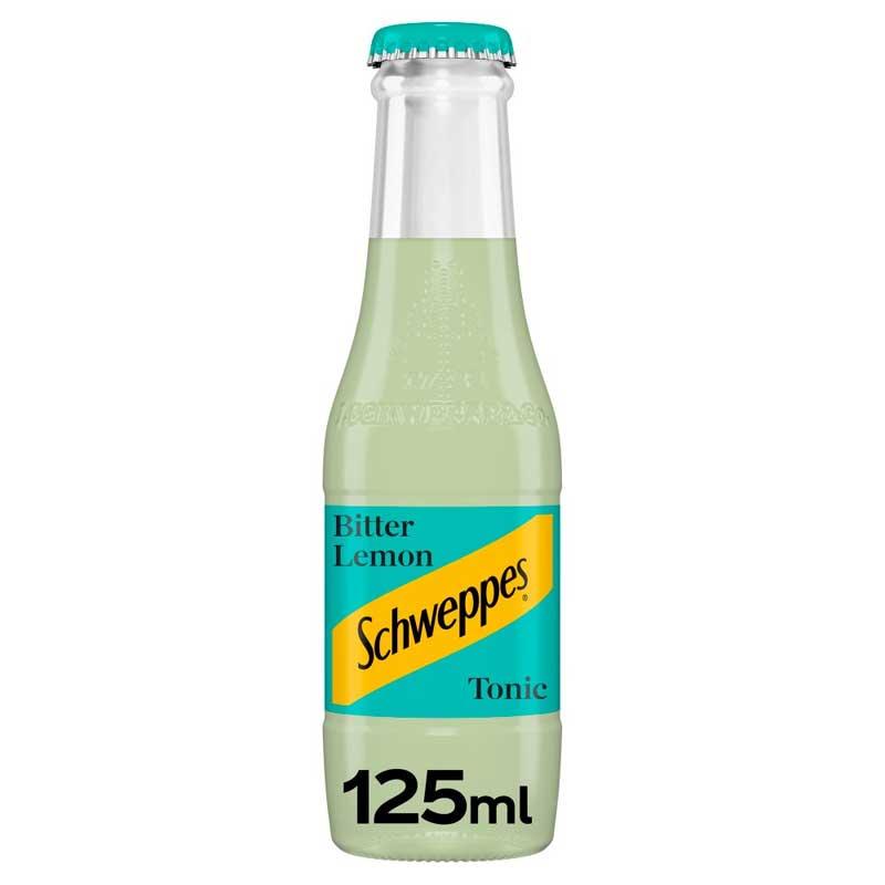 Schweppes Bitter Lemon – baby glass bottle (24x125ml)
