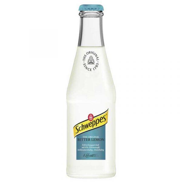 Schweppes Bitter Lemon – glass bottle (24x20cl)