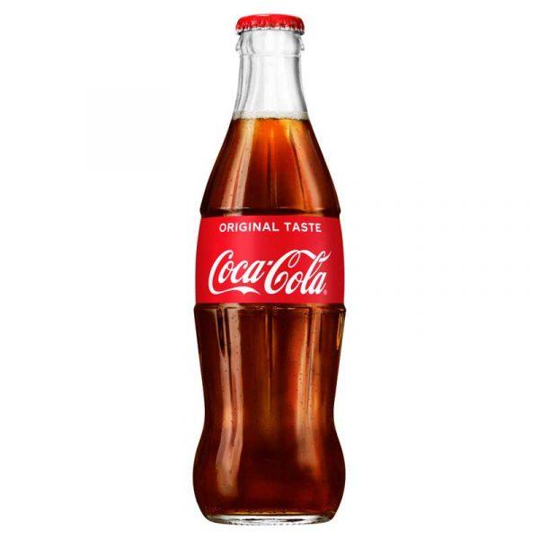 Regular UK Coke – crown top glass bottle (24x33cl)