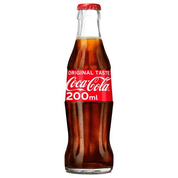 Regular UK Coke – crown top glass bottle (24x20cl)