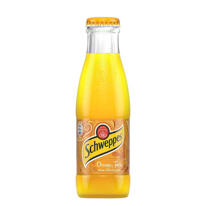 Schweppes Orange Juice – glass bottle (24x20cl)