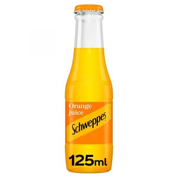 Schweppes Orange Juice – baby glass bottle (24x125ml)