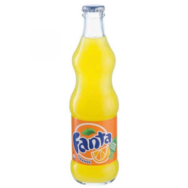 Fanta Orange – crown top glass bottle (24x33cl)