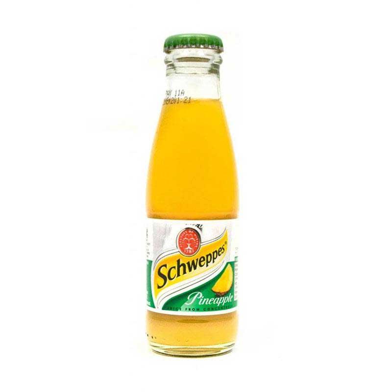Schweppes Pineapple Juice – baby glass bottle (24x125ml)