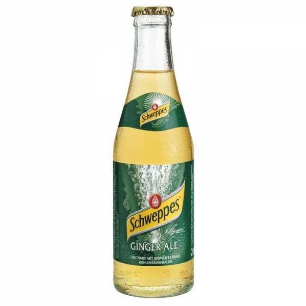 Schweppes Ginger Ale – glass bottle (24x20cl)