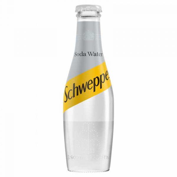 Schweppes Soda Water – glass bottle (24x20cl)